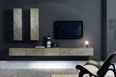 Modular Living Room Furniture Italian Sideboard Grey Design