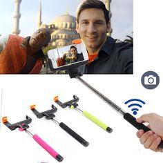 Wireless Bluetooth Selfie Stick Extendable Handheld Monopod Self Portrait Tripods For iphone Samsung Xiaomi Huawei