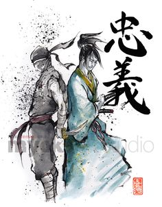 Illustration samouraï Ninja