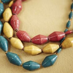 Great colors....31bits.com help women in Uganda by purchasing this jewelry!