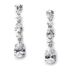 Rachael CZ Earrings - USA Bride