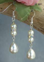 *Teardrop pearl earrings tutorial*    These timeless teardrop pearl earrings are beautiful for any occasion. The top drilled teardrop pearl can vary in size to suit your needs. Pearls are available in many different, trendy colors. These earrings can be made from freshwater pearls, shell pearls or even plastic pearls. They will be a great gift for any family member or friend