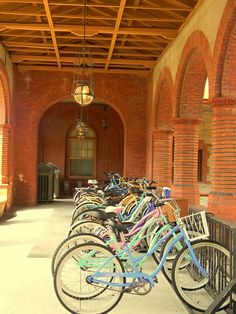 Flagler College, St. Augustine, FL Kept my bike on this rack, always wondered who thought it was a good idea to put a bike rack at the top of the stairs...