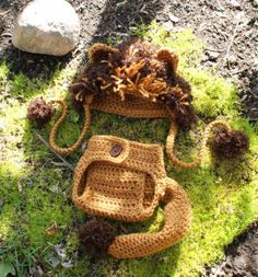 89e326a6acc Items similar to Baby Lion Hat with Diaper Cover Set on Etsy
