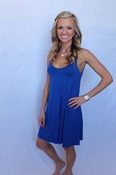 Royalty blue strapped dress