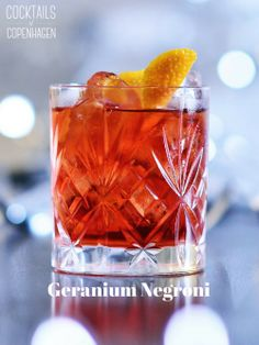 Geranium Negroni - a New Year's eve palate cleansener.