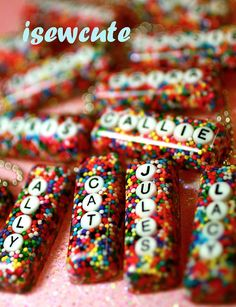 Imagine your name surrounded by real rainbow candy sprinkles! How about your BFFs name? I can help you make it real! Ill put any name or any word... up to 7 letters long in this sweet rectangular sprinkles candy resin pendant. You choose whether or not youd like the rainbow sprinkles pendant to be horizontal or vertical...as well as choosing to have your letters staggered or straight! (please note that due to tight space 7 letters are always staggered) When you purchase this listing, just…