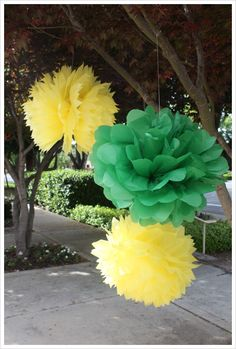 DIY tissue pom poms - this will save a bundle!!!!