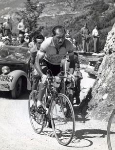 40 year old Gino Bartali during the 1954 Giro