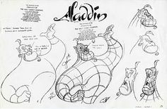 Academy of Art Character and Creature Design Notes: Model Sheets.  Disney (c) Aladdin.