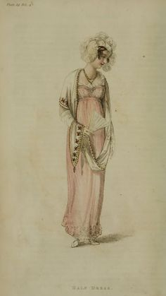 1810 November. Half Dress Ackermann's Repository  Series 1 Vol 4 - November Issue