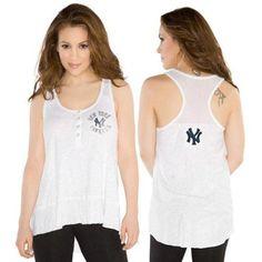 Touch by Alyssa Milano New York Yankees Ladies Cascade Tank - White