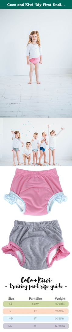 "Coco and Kiwi ""My First Undies"" Girls' 4T - PINK+GREY - 2pk - Reusable Pull-on Baby and Toddler Underwear + Potty Training Pants. Switch to underwear without puddles with our ""My First Undies"" collection. We utilize the absorbent power of bamboo + microfiber! Bring a bit of fun back into potty training while bringing a bit of sanity to mothers everywhere. Our Absorbent Toddler Underwear are meant for potty training and beyond. Comfy and fun designs are perfect for toddler through..."