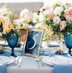Classic Blue Wedding Ideas from the Pantone Color 2020 - crazyforus Pantone Azul, Pantone Color, Pantone 2020, Blue Wedding Rings, Blue Suit Wedding, Card Table Wedding, Wedding Place Cards, Blue Wedding Centerpieces, Wedding Decorations