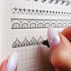 Doodle art ideas draw zentangle patterns 24 Ideas for 2019 Henna Tattoo Hand, Henna Tattoo Muster, Henna Tattoo Designs, Muster Tattoos, Henna Tattoos, Mandala Tattoo, Mandala Doodle, Mandala Art Lesson, Mandala Artwork