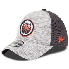reputable site a4ce0 3b8a8 Men s Detroit Tigers New Era Heather Gray 2016 Clubhouse 39THIRTY Flex Hat