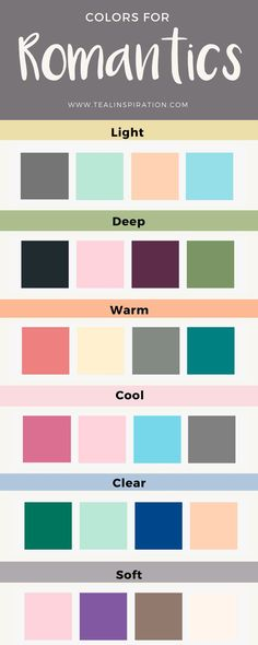 Colors for Romantics