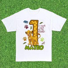 The Lion King Custom Birthday T-Shirt - Boys 3 Year Old Birthday Party Boy, Safari Theme Birthday, Boys 1st Birthday Cake, Lion King Birthday, 1st Birthday Shirts, Birthday Ideas, Lion King Theme, Lion King Party, Bebe 1 An