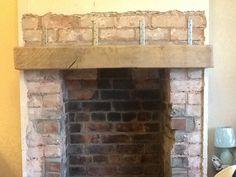 house fireplace no lintel Fireplace Mantels, Fireplace Ideas, Fireplaces, Cottage Fireplace, 1950s House, Log Burner, Home Renovation, Beams, New Homes