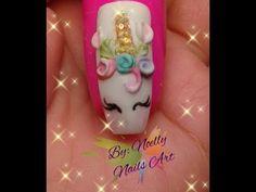 Decoración de uñas Unicornio - Unicorn nail art - YouTube