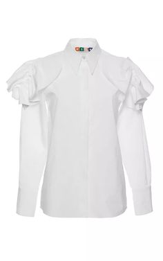 Crisp Cotton Poplin Shirt by MSGM for Preorder on Moda Operandi