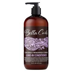 Bella Curls Coconut Whipped Creme Leave-In Conditioner - 16 Fl Oz