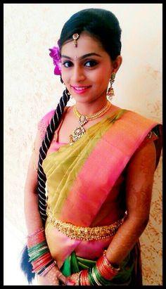 south indian bride | bridal makeup and saree
