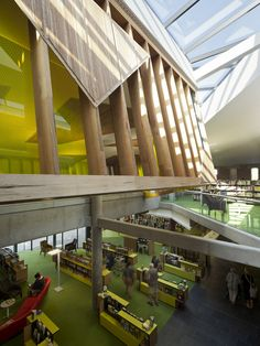 Image 19 of 22 from gallery of Bendigo Library / MGS Architects. Interior Architecture, Interior Design, Space Projects, Library Design, Library Ideas, Learning Spaces, Atrium, Virtual Tour, Floor Plans