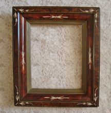 19c Antique Victorian Aesthetic Eastlake  Wood Picture Photo Frame