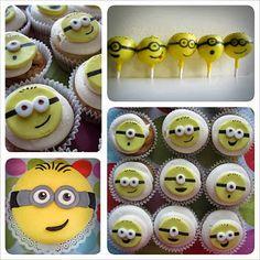 Elsa Birthday Cake, Minion Birthday, 2nd Birthday Parties, Despicable Me Party, Minion Party, Cupcakes, Cupcake Cakes, Yummy Treats, Sweet Treats