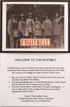 We are pleased to welcome to Chamber membership, Fruitbelt Soda. They formulate, market and distribute a line of light and aromatic apple-based varietal fruit sodas. Made from whole apples, sparkling water, honey, varietal fruit and native botanicals. Welcome to Harbor Country.