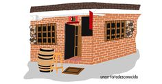 Cogito Ergo Sum, Madrid, Gourmet, Drawings, Restaurants, Illustrations