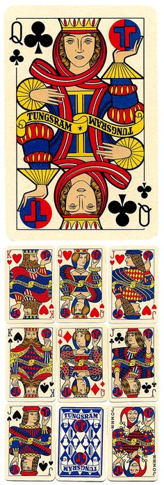 Q♣ Tungsram Playing Cards  ca 1958