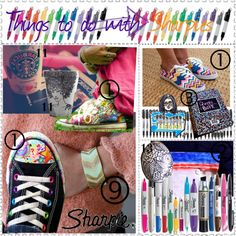 things to do with sharpies tip # 29, created by silver-sparrow on Polyvore