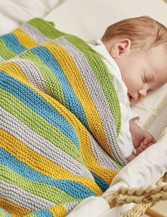 The Knitted Nursery Collection book review with excerpted pattern (Ollie and Polly Blankets) by Jem Weston via Underground Crafter