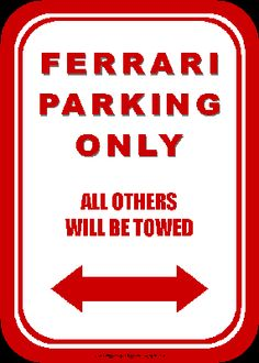 Ferrari parking free printable
