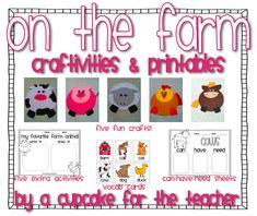 farm unit! five cute craftivities, 10 activity pages, and vocab cards!