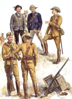 by Zhukov - The Military History Emporium — Second Boer War Boer Fighters Boer burgher,. Military Photos, Military Art, Military History, Military Pins, Military Diorama, Uk History, African History, Texas History, Army Uniform