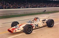 1966 Indianapolis 500 : Graham Hill, Lola-Ford T90 #24, Winner. (ph: © IMS)