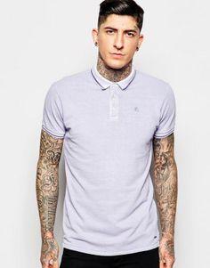 The Collar Purple  (Scotch & Soda Two Tone Polo Shirt in Purple)