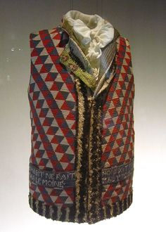 フランス革命時代の男性用総刺繡ベスト Men's vest from the French Revolution