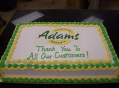 Homemade Cake - Thank You To All Our Customers!