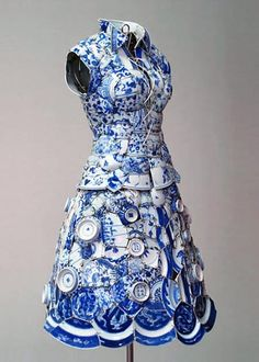dress made from china plates