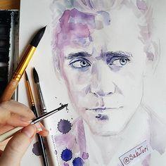 Victoria. I'm A+. ✏ @sakutori Watercolour....tom hiddleston ...Instagram photo | Websta (Webstagram)