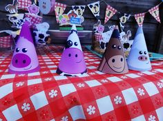 Barnyard Animal Party Hat PRINTABLE PDF  DIY by TheGrapeVineEvents, £2.65