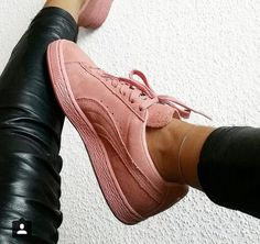 shoes, puma, and pink image