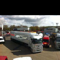 Vodaphone McLaren Mercedes truck at Pentagon Commercials Fareham.