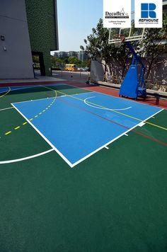 Decoflex D15 Outdoor Rubber Sports Flooring @ Lutheran Academy, Hong Kong