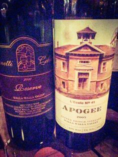 Two old school Walla Walla wines - and both great.