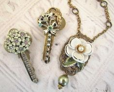My Salvaged Treasures: Visions of Spring Repurposed Jewelry